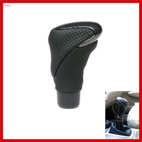 New Cool Universal Leather Carbon Fiber Car Manual Transmission Gear Shift Knob gear level knob Shifter Head