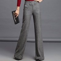 High Quality Winter Pants , Street Style Woolen Fashion Woman Straight Casual Trousers 144 Plus Size Clothing Free Shipping