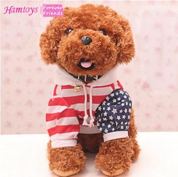 Stuffed Teddy Dog Plush Toy Simulation Dog Animal Toy Cuddly Toy Birthday Kids Gifts Two Colors Freeshipping #SA07(China (Mainland))