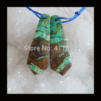 Chrysocolla Earrings Beads,34x11x5mm,5.3g