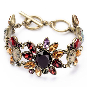 Новый урожай цветок колье колье для женщин заявление браслет шарм мода ювелирных ...