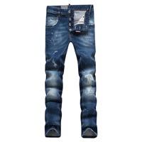 New 2015 dsq Jeans Men fashion designer casual mens blue denim jeans size 28-36 slim fit high quality