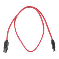 Free Shipping 7 Pin SATA male to SATA Female HDD Hard Drive Cable Orange