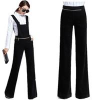 Autumn Winter Hot Sale Women Corduroy Two Wear Bib Pants , Big Star Fashion Temperament Feminine jumpsuit Free Shipping