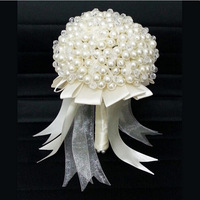 Free Shipping! High quality A Grade Faux Pearl with Crystal Handmade Bridal Wedding Bouquets