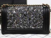 2014 brand name women diamonds shells lambskin BOY CC Flap Bag fashion shoulder bag NO.A67025-shells
