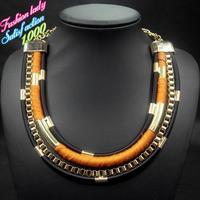 Bohemia style vintage choker bib collar chain necklaces for women 2015 high quality elegant women accessories 4514