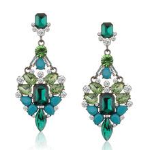 2015 new big fashion crystal rhinestone jewelry earring punk drop earrings for women free shipping 1218(China (Mainland))