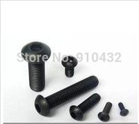 100Pcs/lot 10.9 Black Alloy Steel M3x6mm Mushroom Inner Hex Screws Fasteners