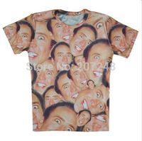 2015 New high quality Women's Men's Short Sleeve T shirt Fashion Nicolas Print 3D t shirt S M L XL XXL