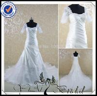 RSW466 2014 Square Neckline Short Sleeve Latest Design Wedding Dress