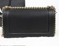2014 brand name lady stoving varnish BOY CC Flap Bag fashion shoulder bag NO.A67025-stoving varnish
