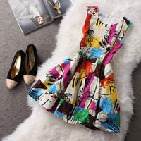 2015 spring new dress / girls sleeveless vest Slim Nice dress / ladies winter dress temperament