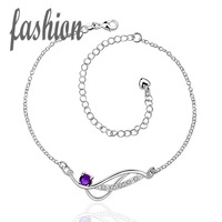 Free Shipping 925 Silver Anklet,New Design Fashion Jewelry,Delicate Handmade Cheap Anklets SMTA036-C