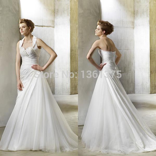 High QualityCharming Wedding Dresses Hot Sale Sweetheart Sleeveless Court Train Net/Tulle Sleeveless Bridal Gowns(China (Mainland))