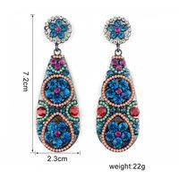2014 Summer Trend Pioneer Color Series Rhinestone Super Vintage Beautiful Earrings for women jewelry 4 colors brincos