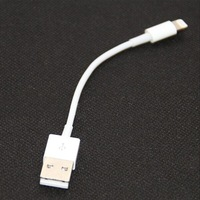 100pcs/set 10cm SHORT THICK Data Charger USB Cable WHITE for iPhone 6 Plus 5s 5c 5 iOS 8
