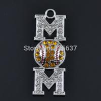 Good sporty gift to MOM baseball crystal pendants