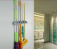 Kitchen Wall Mounted Hanger Storage 5 Position Mop Brush Broom Organizer Holder