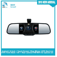 Android +Rear Mirror +GPS Navi+car DVR Front/ Back for  PORSCHE  CAYENNE