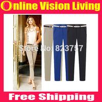 Plus Size S M L XL XXL Hi-Q 2015 Fashion Slim Leggings OL Pants Pencil Trousers boot pants Good Look Women Elastic Pants  A0711