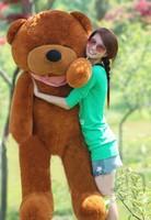 New Giant 200CM/78''inch TEDDY BEAR PLUSH HUGE SOFT TOY Plush Toys Valentine's Day gift Sleepy Bear 2m Squinting Bear dark brown