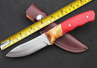 NEWEST! BROWNING Elk Ridge Camping Fixed Knives,5Cr13Mov Blade Color Wood&White Burl Handle Sanding Hunting Knife.