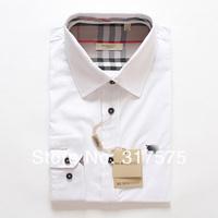 Free Shipping 2014 Hot Sale Men Shirt Brand Long Sleeve Turn Down Collar Cotton Fashion Slim Casual Plus Size Business Men Shirt