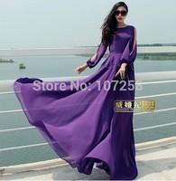 2015 New Fashion 6XLPlus Size Women Spring Summer Dress Vintage Evening Party/Wedding PromLong Maxi Dresses