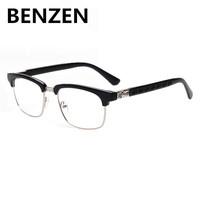 2015 Computer Goggles Vintage Women Plain Glasses Half Box Optical Glass Frames  Clear Lens Rhinestone Radiation Glass 5026