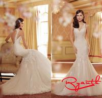 Vestidos De Novia 2015 Sexy Open Back Lace Wedding Dresses Vintage Bridal Dress Wedding Gowns Vestido Noiva Casamento RBW252