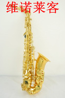 Free shipping  Vanolike  Alto saxphone  gold painted  Drop E   Wholesales
