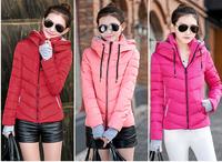 Free shipping 2014 coat winter Thick down jacket cotton padded jacket women wind breaker jacket winter coat Women