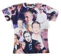 2015 New high quality Women's Men's Short Sleeve T shirt Fashion  Ryan_Gosling  3D t shirt S M L XL XXL
