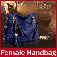 2015 New Famous Brand Business Dress Women Handbag Ladies Tassel Zipper High Quality PU Leather Hand Totes Bag For Female