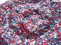 Matte Solvent Resistant Glitter Mix  Bulk Raw Glitter Mixes  G252