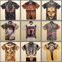 [Magic]2014 New short sleeves t Shirt for men 3D animal printed blouse men's/women's pullover t-shirts Casual T70-T88 size M-XXL