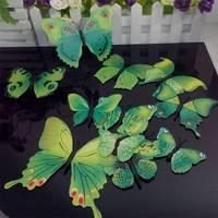 1Set/12pcs 3D Butterflies For Wall Art Decal Home Decoration DIY Beautiful Wall Sticker Home Decor High Quality