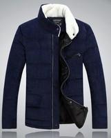 New 2014 Winter Men's Brand Fur Collar Duck Down Jacket Outdoors Casual Thick Wool Warm Parka Men Coat Plus Size men down-jacket