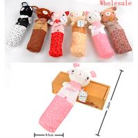 Cute Cartoon Bear Pencil Pen Bag Bag Red Yellow Pink Green Office Supplies Best Gift For Kids Cheap Wholesale