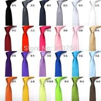 Free shipping hot sales silk neck tie for men / women, fashion New 2013 Skinny Tie for men 5cm Solid Color Plain Necktie