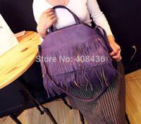 Cool! 2015 So Beautiful Women Handbag Leather Tassel Bag Casual Brand Shoulder Bag Ladies Tote Bag bolsas femininas 0332A
