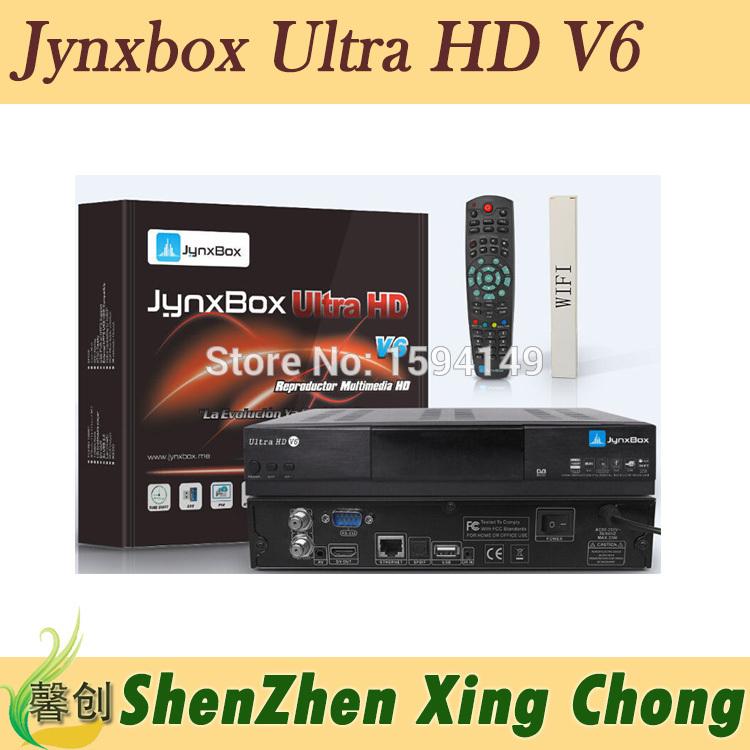 receiver satellite hd JynxBox Ultra HD V6 fta hd receiver Wifi usb dongle fta satellite tv receiver(China (Mainland))