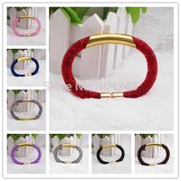 Wholesale Stardust Bracelets Mesh Chain With Full Resin Crystal Inside Magnetic Wrap Bracelet Charm Bracelet