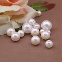 Free shipping 300pcs/lot Jewellry Accessories 4/6/8/10/12mm Round ABS Pearl Loose Beads Pearl white wholesale crystal beads
