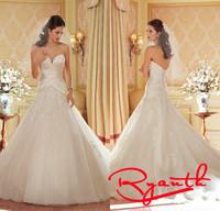 Vestidos De Noiva 2015 Bridal Dresses Ball Gown Wedding Dresses Organza Ruffle Wedding Dress Bohemian Vestidos Renda RBW256