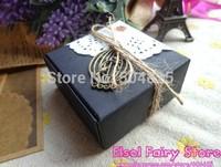 Wholesale (100pcs/lot) 55x55x25mm Candy Black paper Box, Handmade Soap Box, Jewelry black Packing Gift Box 50pcs/lot