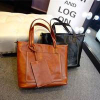 New casual print vintage women handbag large high quality PU leather European fashion ladies bag shoulder bag bolsa feminina