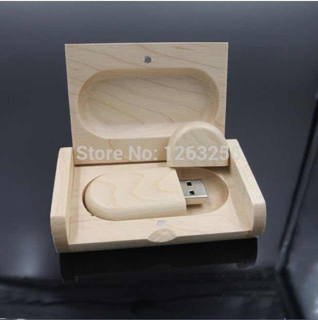 Creative Original Wooden usb with Box pen drive 8GB 16gb 32gb 64gb usb Flash Drive Bulk USB 2.0 Memory Stick Festival Gift(China (Mainland))