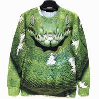 Snakes / Clown Fish Men's Crewnecks  3D Hoodies Sweatshirts  Long Sleeve Outerwear Pullovers free shipping high quality
